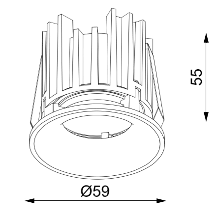 Azir-60 Downlight Dimensions