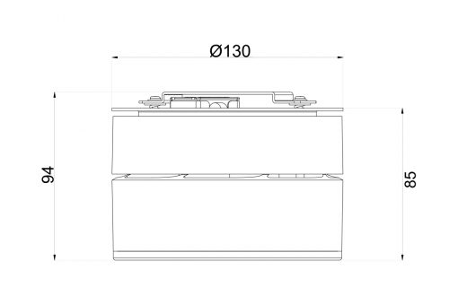 ERI 130 Surface Mounted Downlight Dimensions