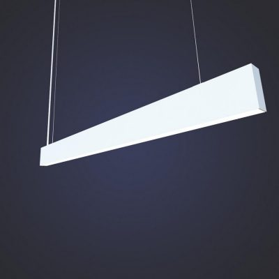 HEKA Suspended Up/Down LED Linear Luminaire – 55W. Long linear, ceiling washing, up and down office light with Internal driver