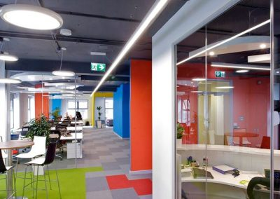 HEKA Office Fit Out Suspended Linear Led Light