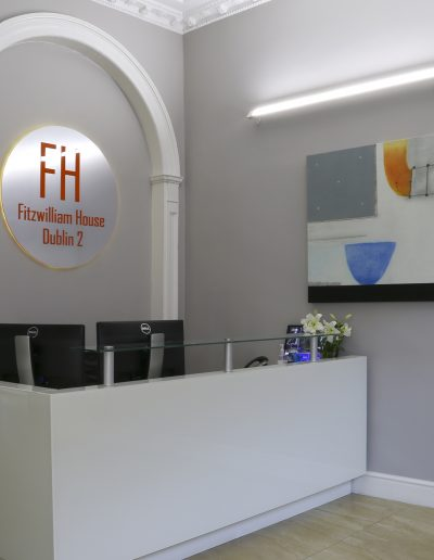 Reception Fit Out Linear LED Profile and Downlights