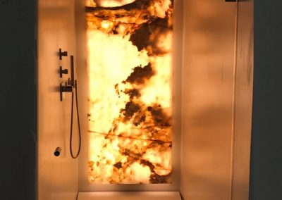 ATLAS Source Warm White LED Strip Backlit MArble Shower